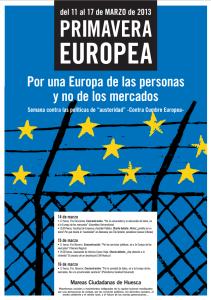 Primavera europea Huesca 2013