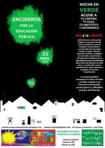Cartel de la campaña de encierros del 25 de abril